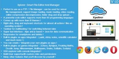 Xplorer - Smart File Manager PHP Script