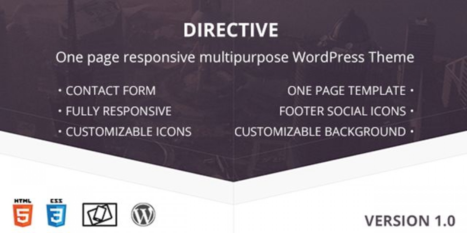 Directive - One Page Responsive WordPress Theme