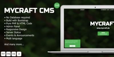 Mycraft - Minecraft Server Landing Page CMS