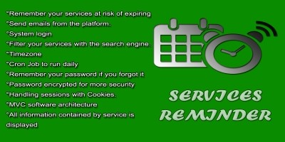 Services Reminder PHP Script