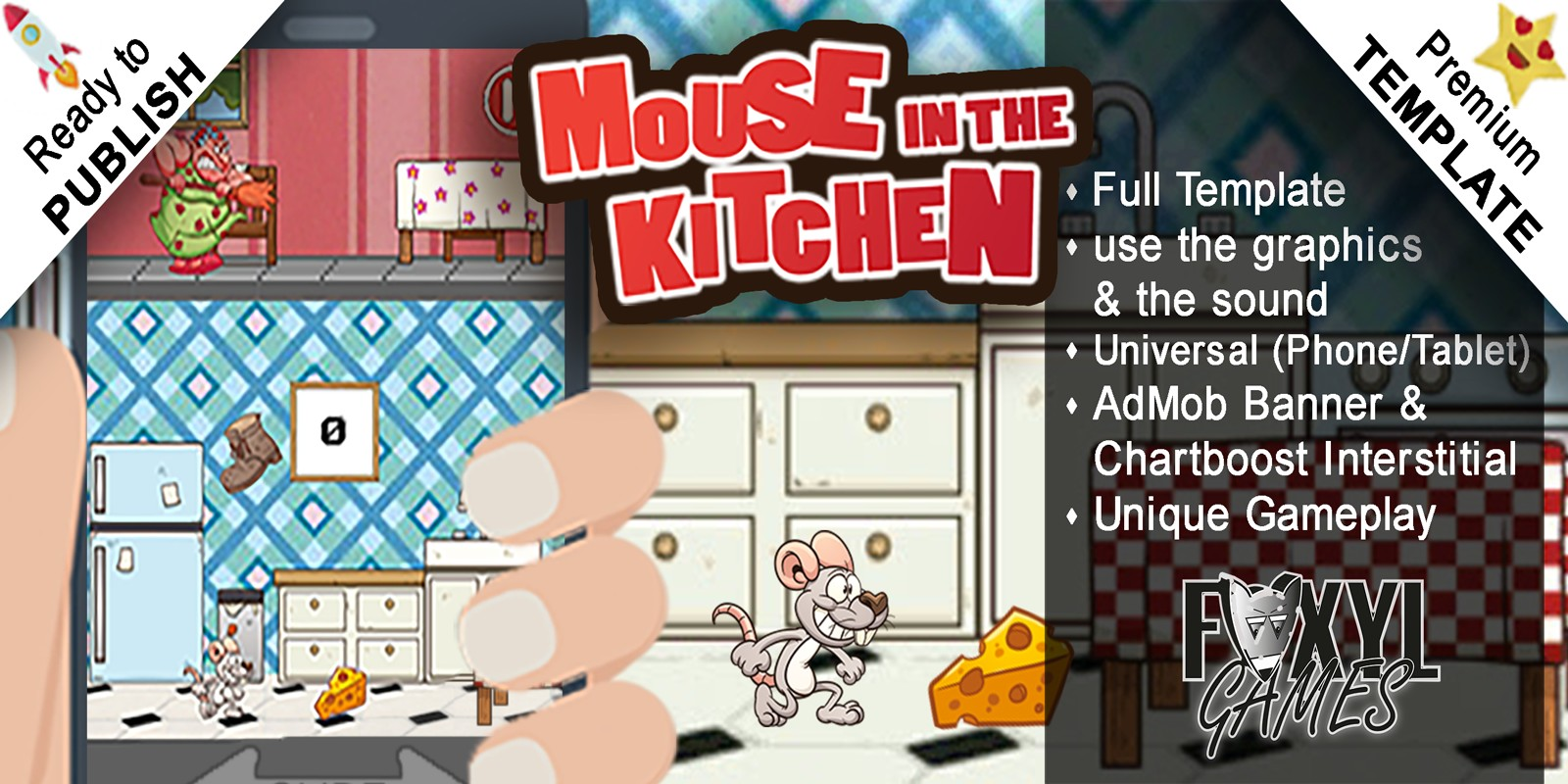 Mouse in the Kitchen - Buildbox Template