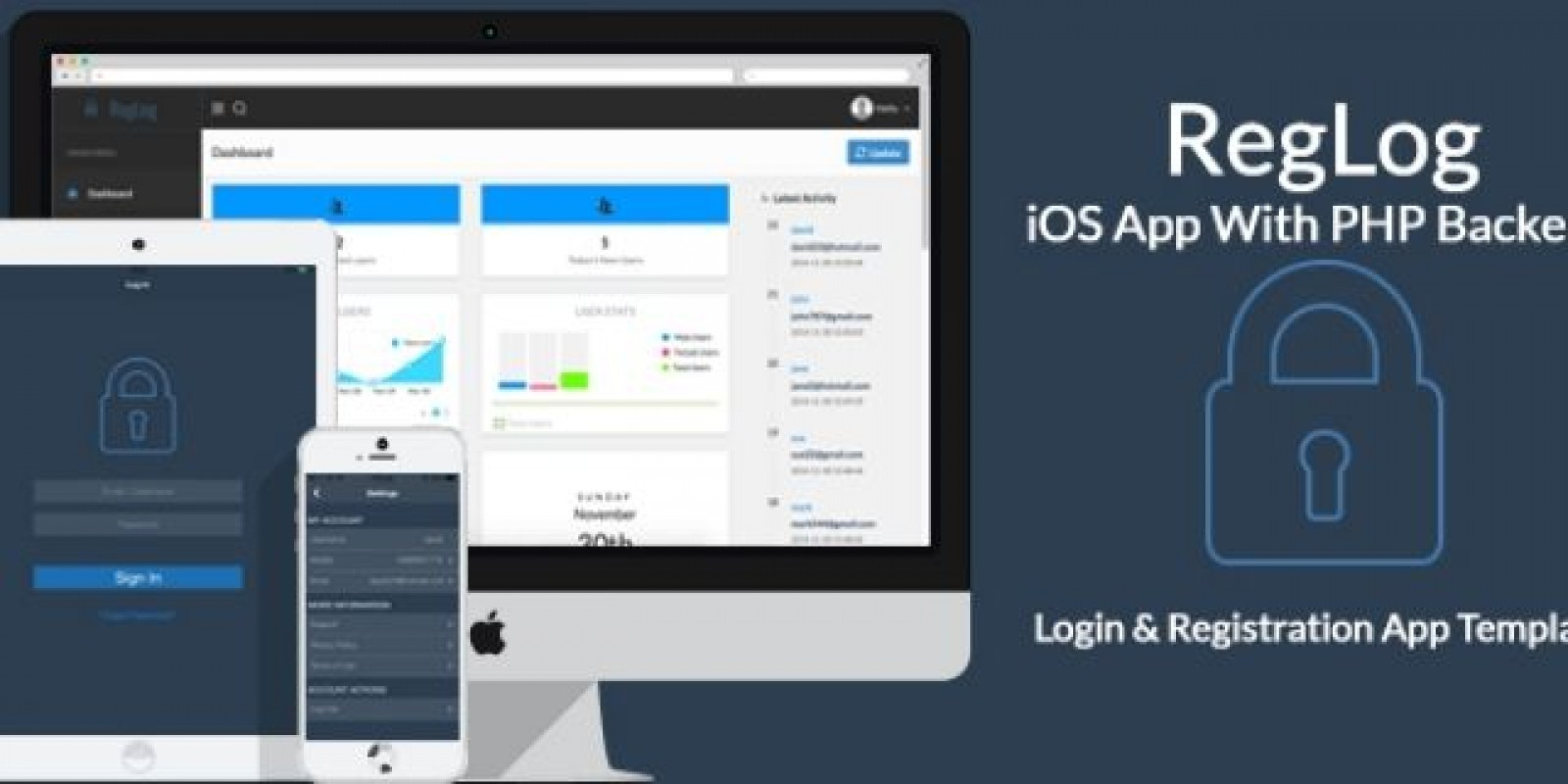 RegLog - iOS App Template With PHP Backend