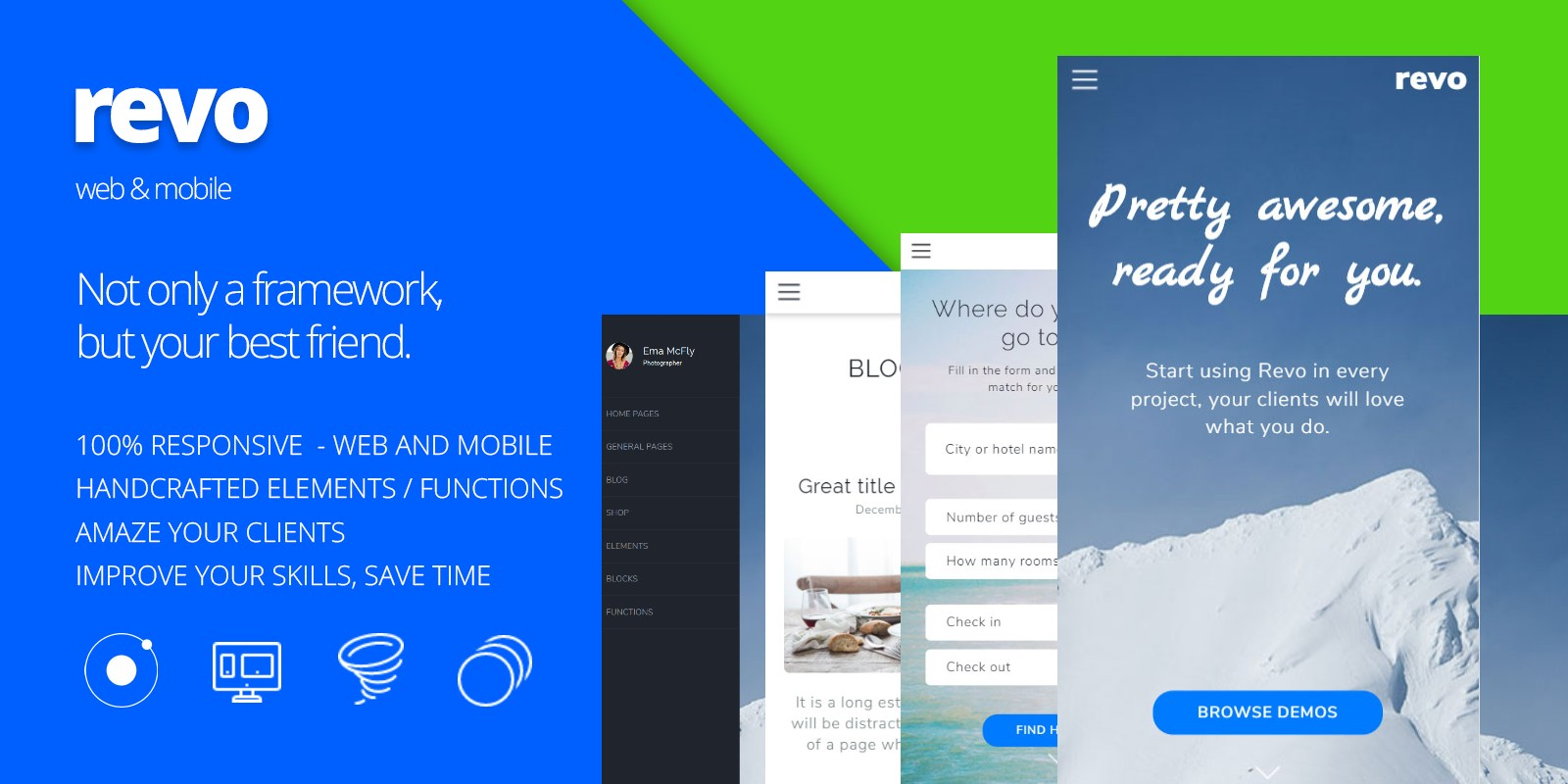 revo ionic web ui kit ionic themes codester