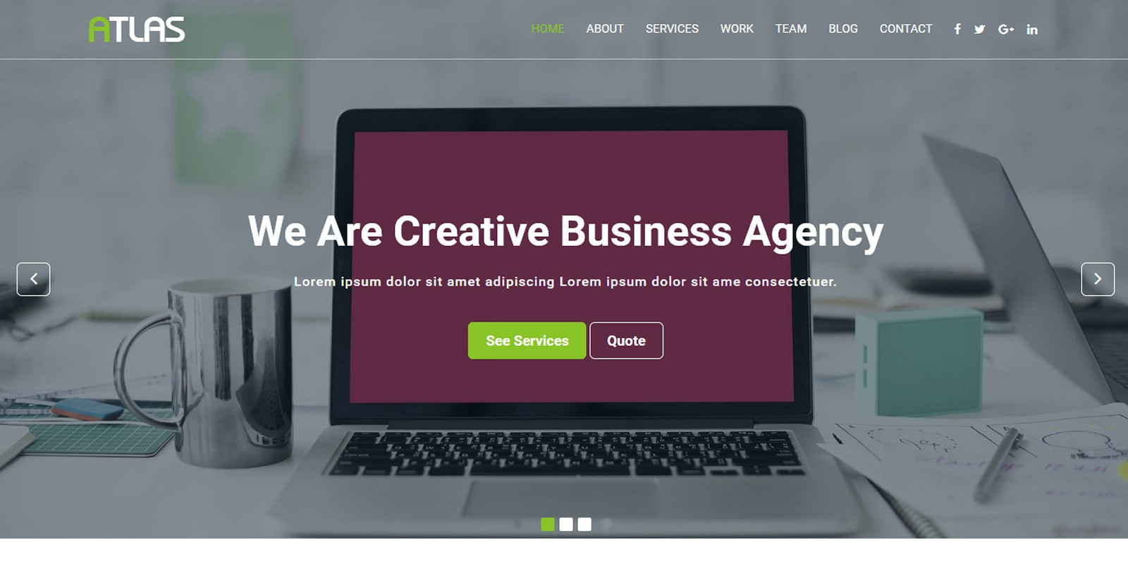 Atlas – Creative Agency HTML Template.