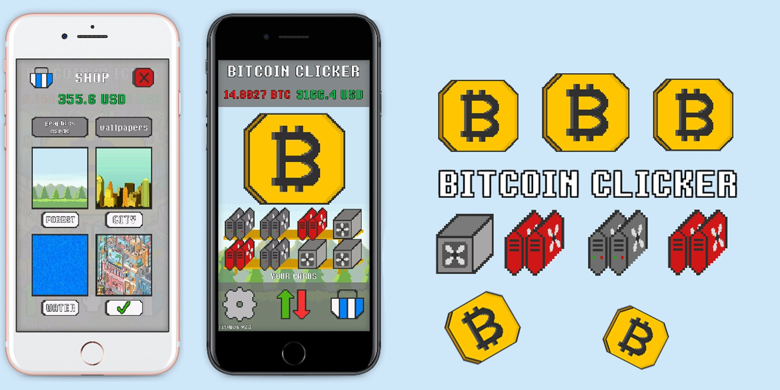 Bitcoin Clicker Unity Game Source Code
