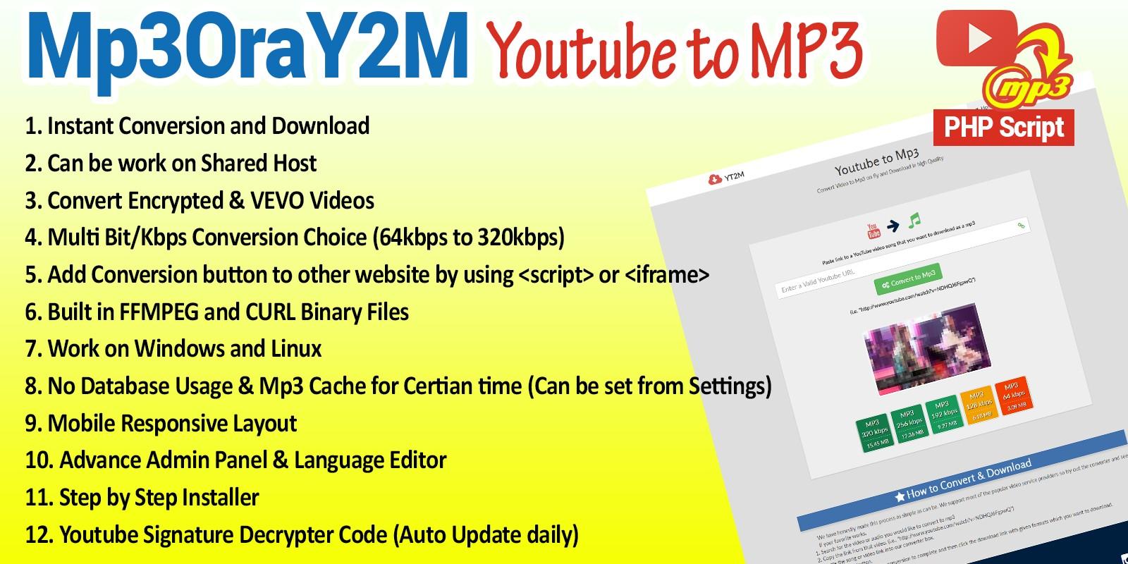 MP3OraY2M - Youtube to Mp3