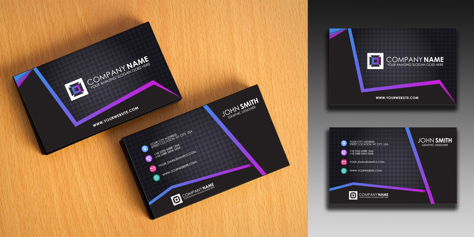 Clean and simple business card template codester clean and simple business card template fbccfo