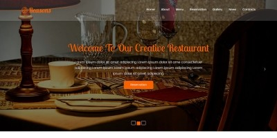 Reasons - Restaurant One page Template