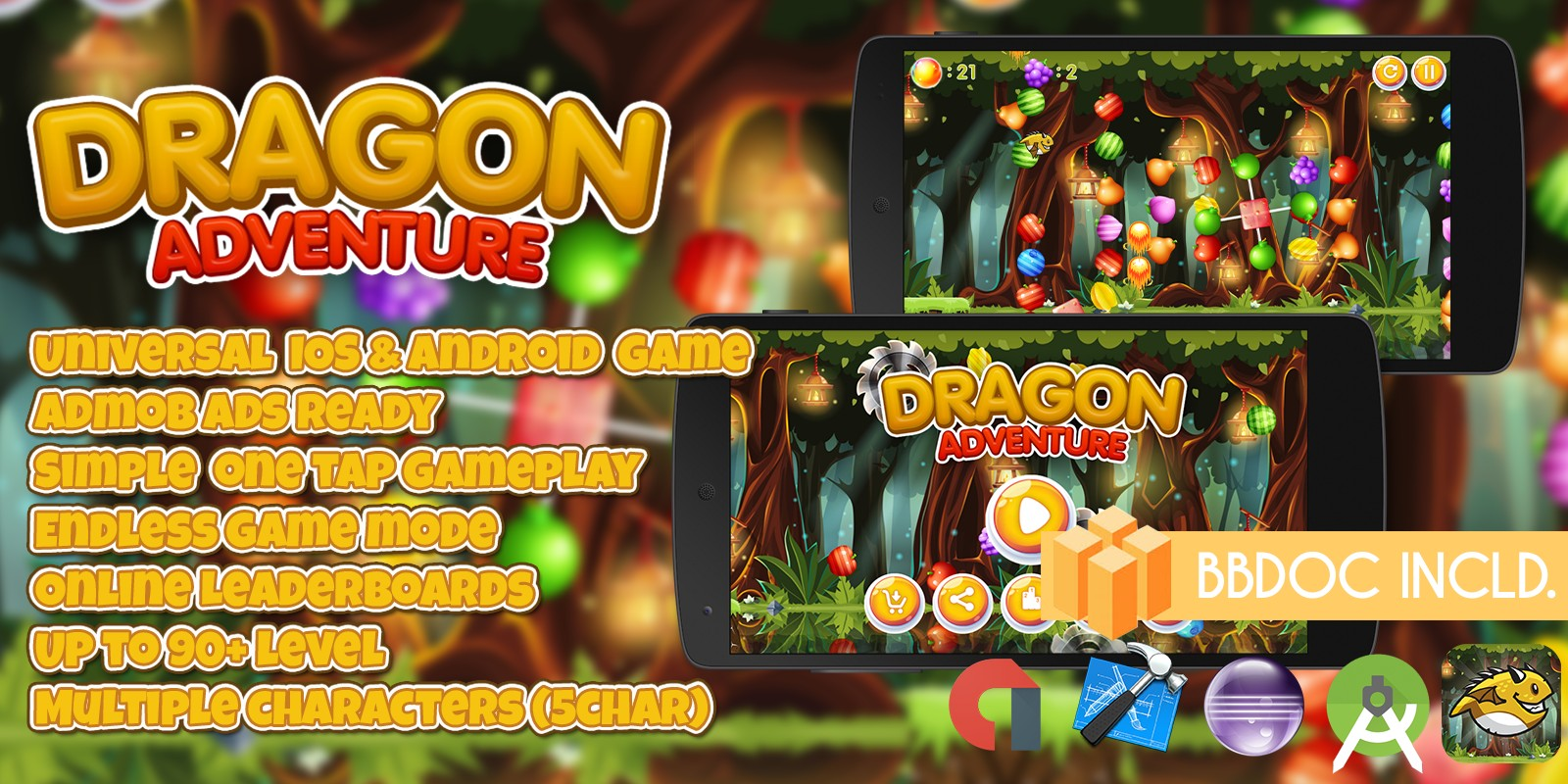 Dragon Adventure - Android iOS Buildbox Project