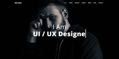 Mr Akki – Portfolio Bootstrap 4 Template