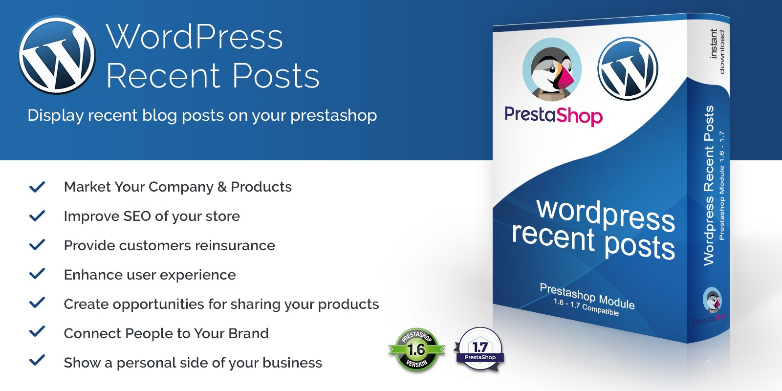 WordPress Recent Blog Posts for PrestaShop