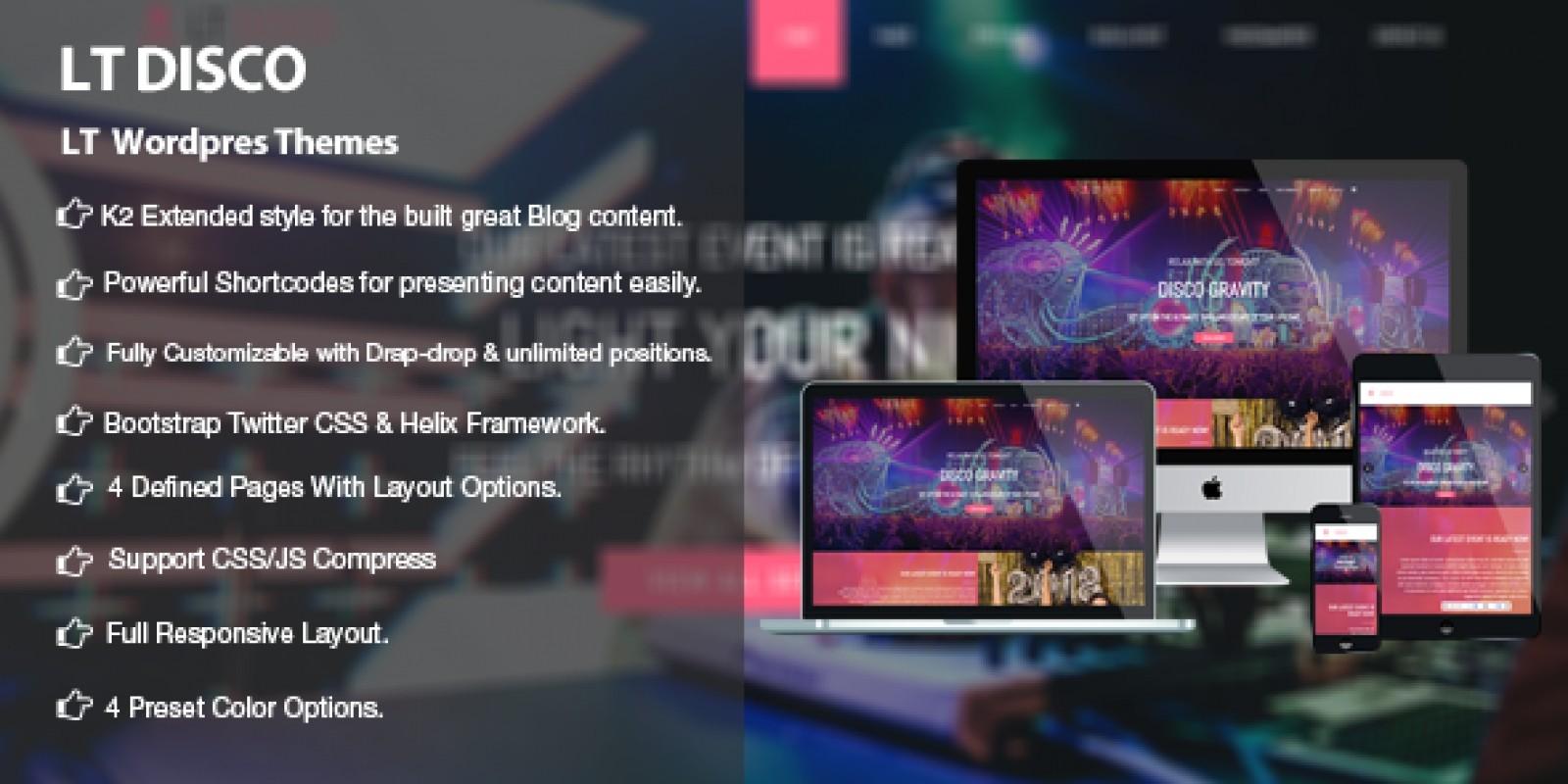 LT Disco - Nightclub WordPress Theme