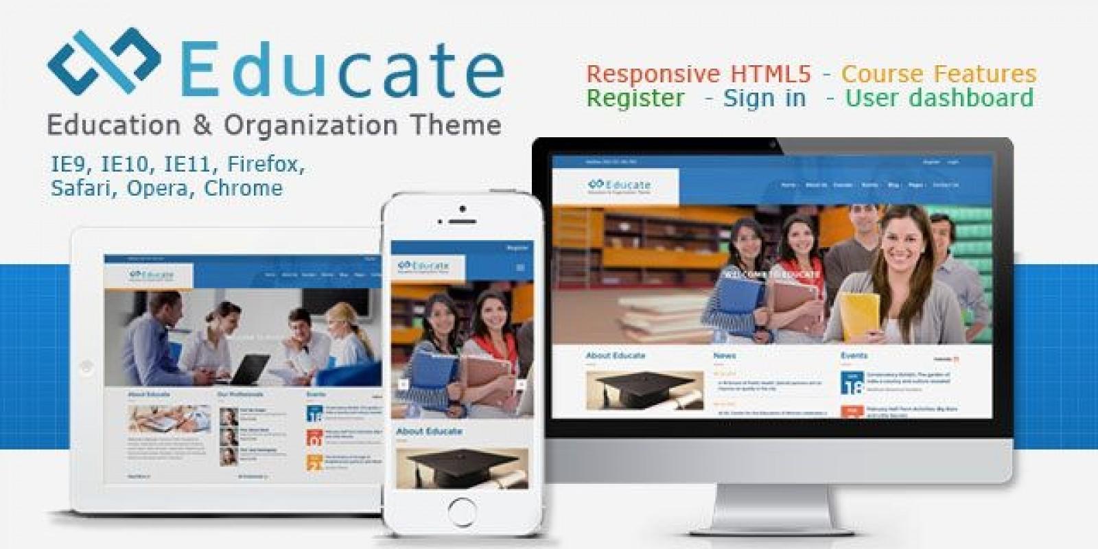 Educate - Responsive HTML5 Template