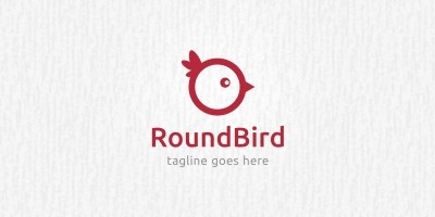 Round Bird - Logo Template