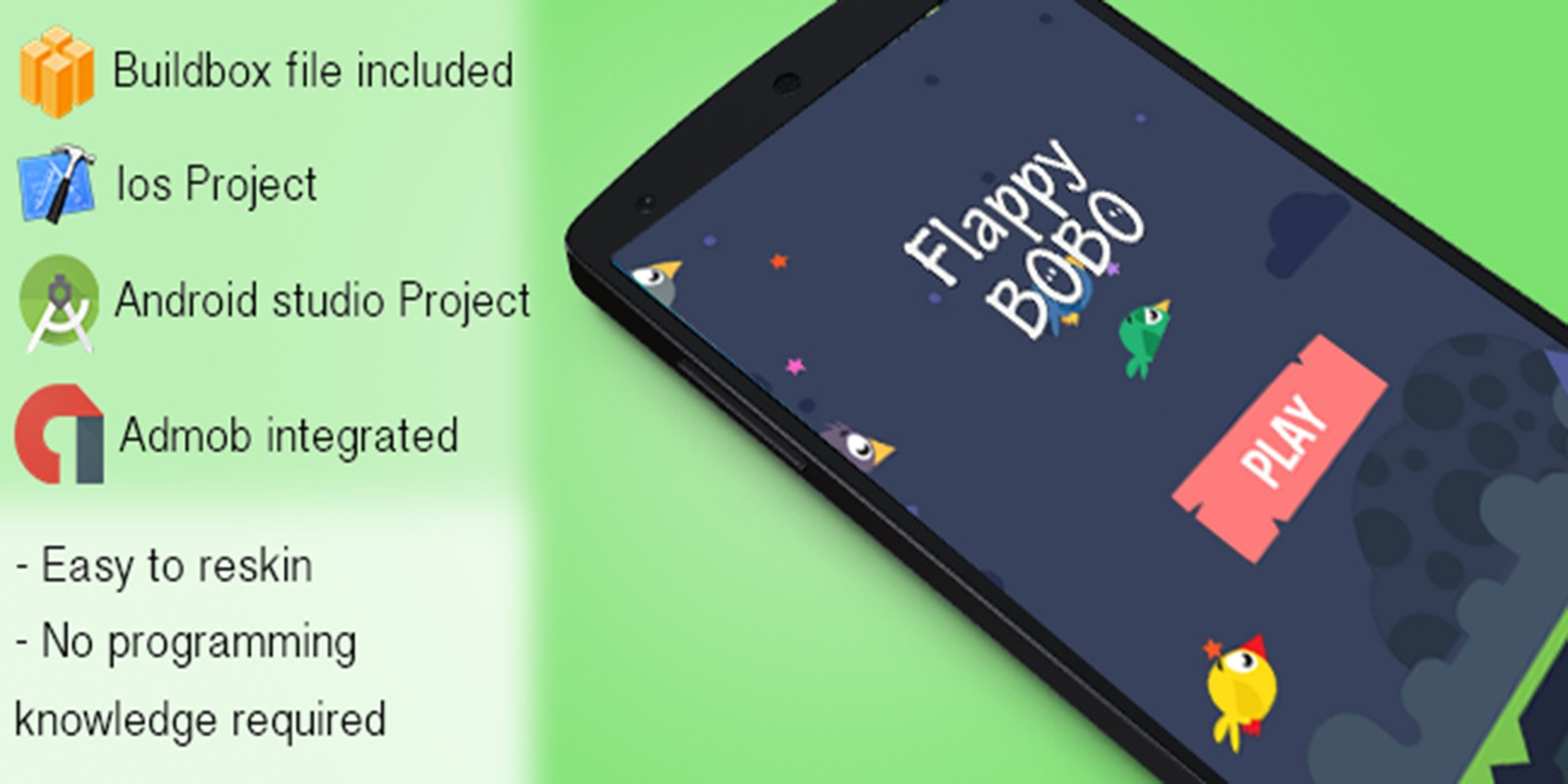 Flappy Bobo - Buildbox Game Source Code