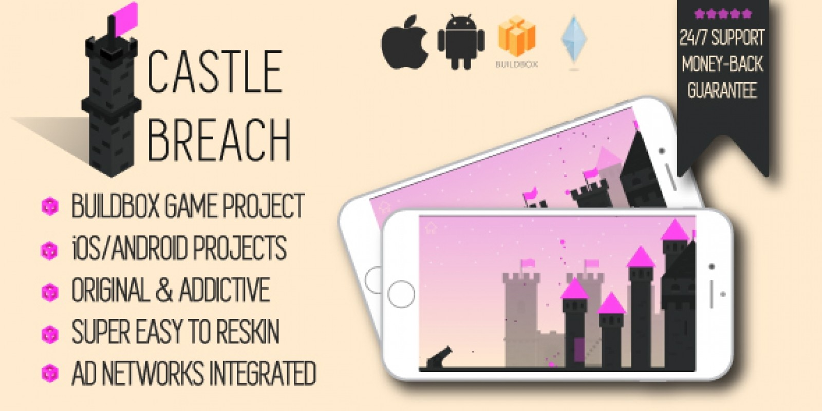 Castle Breach - Buildbox Game Template