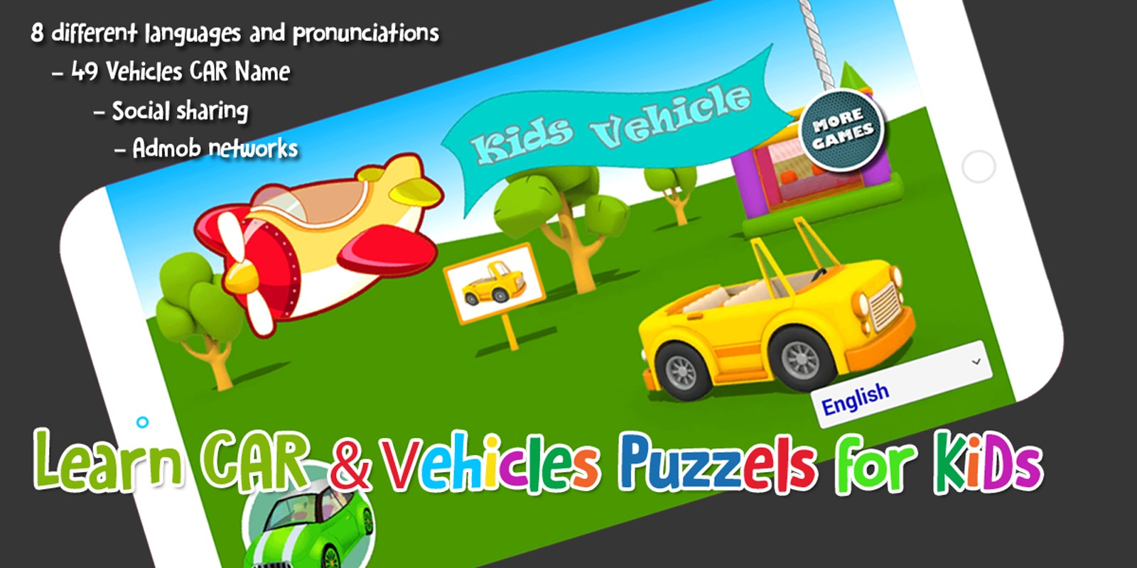 Learn Vehicles Names For Kids - Full Unity Project