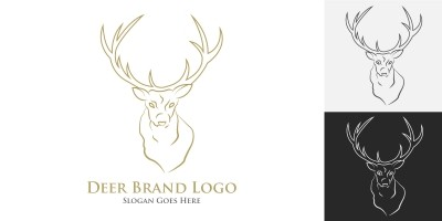 Deer Logo Template