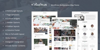Reef Plus - WordPress Theme