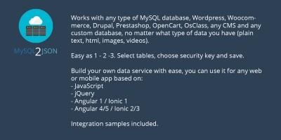 MySQL 2 JSON Platform