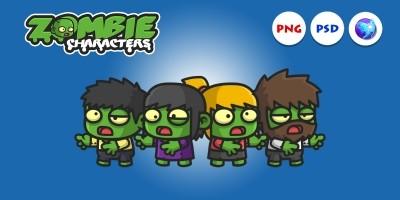 Mini Zombie 2 Character Sprites