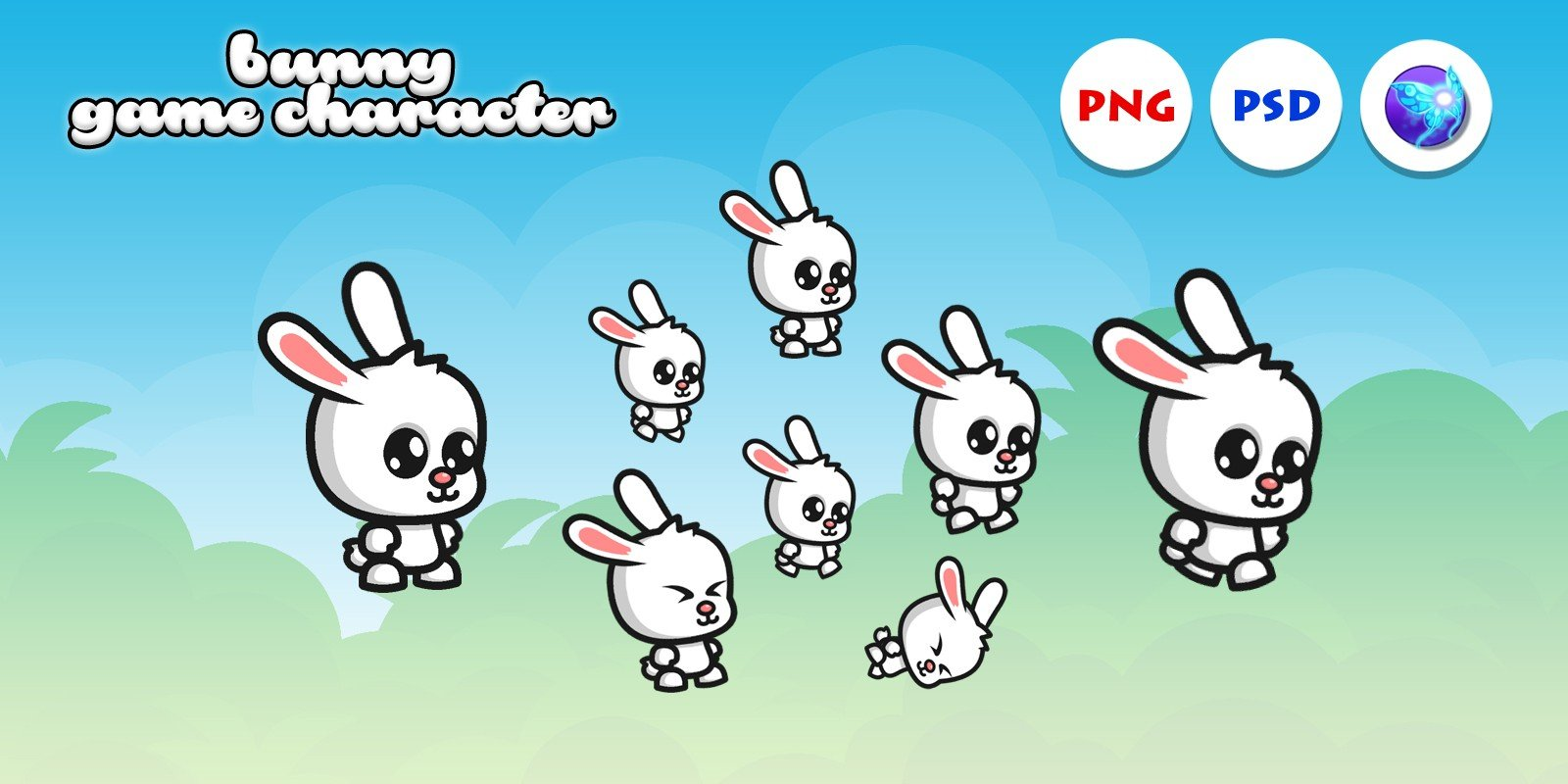 Bunny Game Character Sprites