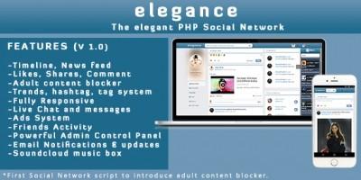 Elegance - The Elegant PHP Social Network Platform