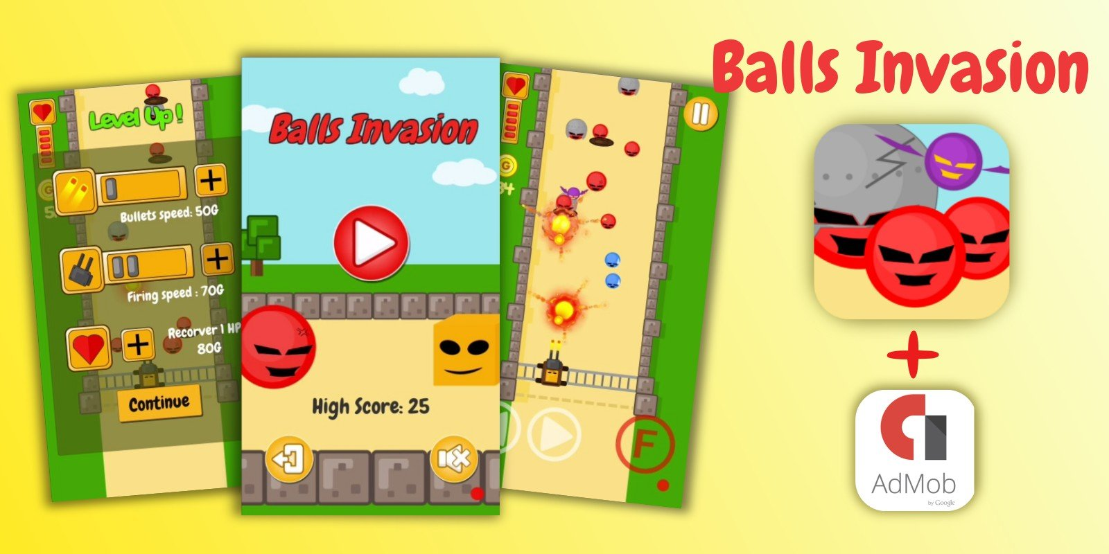 Balls Invasion - Unity game source code