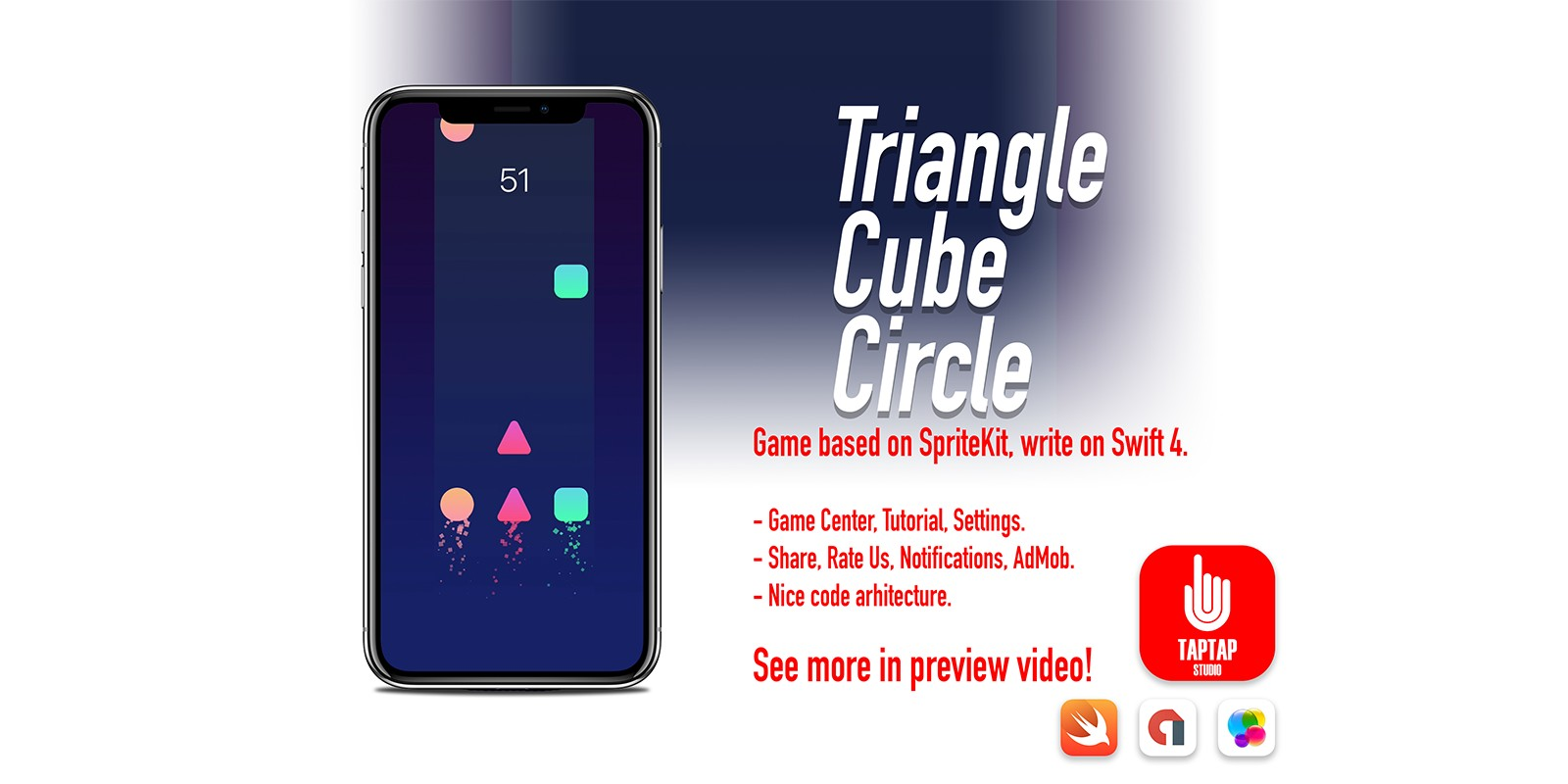 Triangel Cube Circle - iOS Source Code
