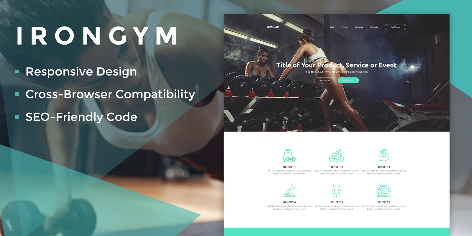 IronGym Landing Page HTML - HTML Sport & Fitness Website Templates ...