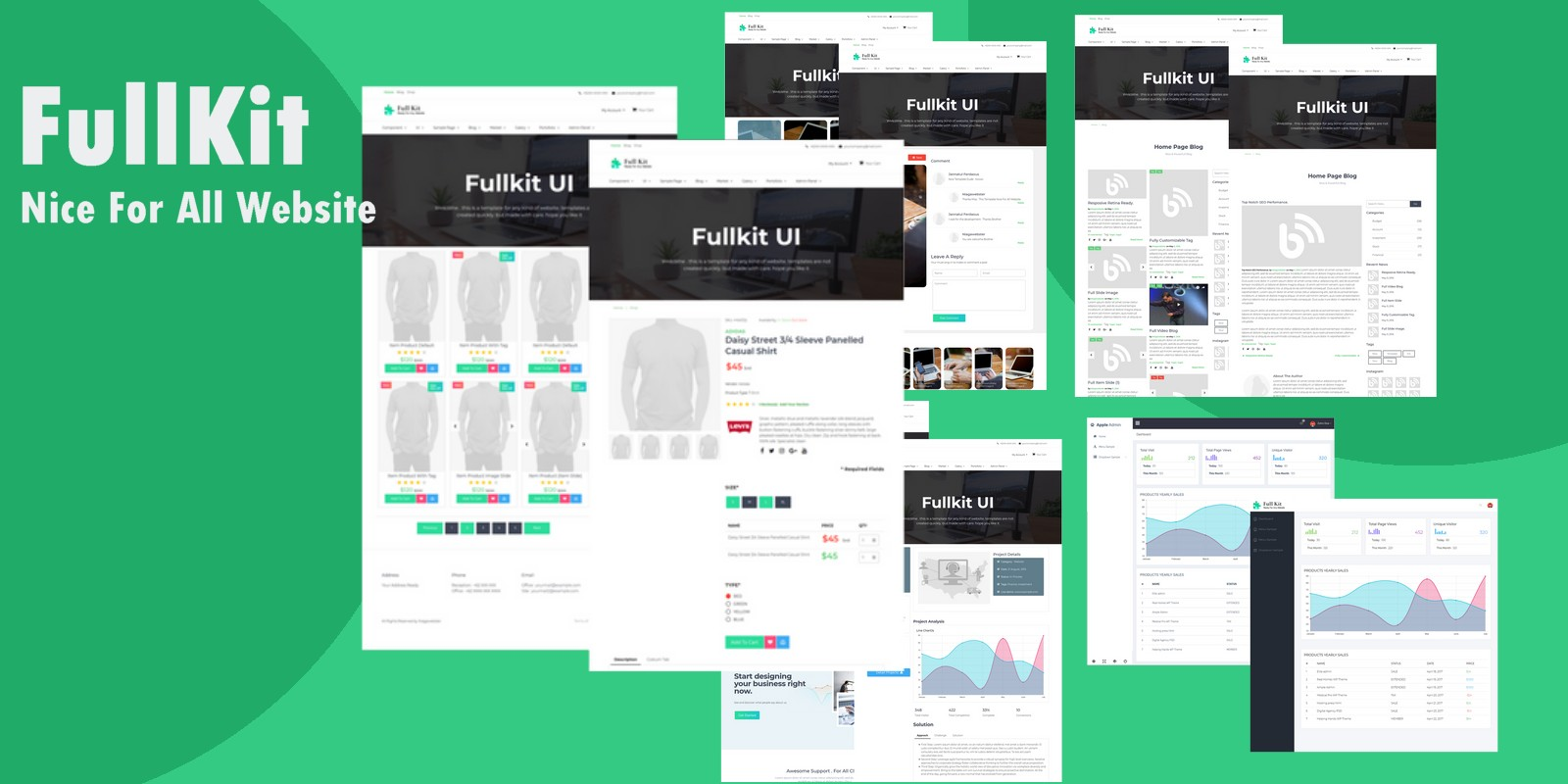 Full KIT UI Design For FrontEnd