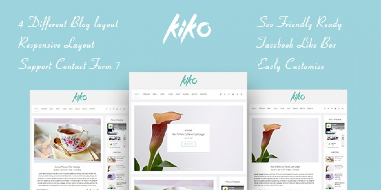 Kiko - Simple and Clean Personal WordPress Theme