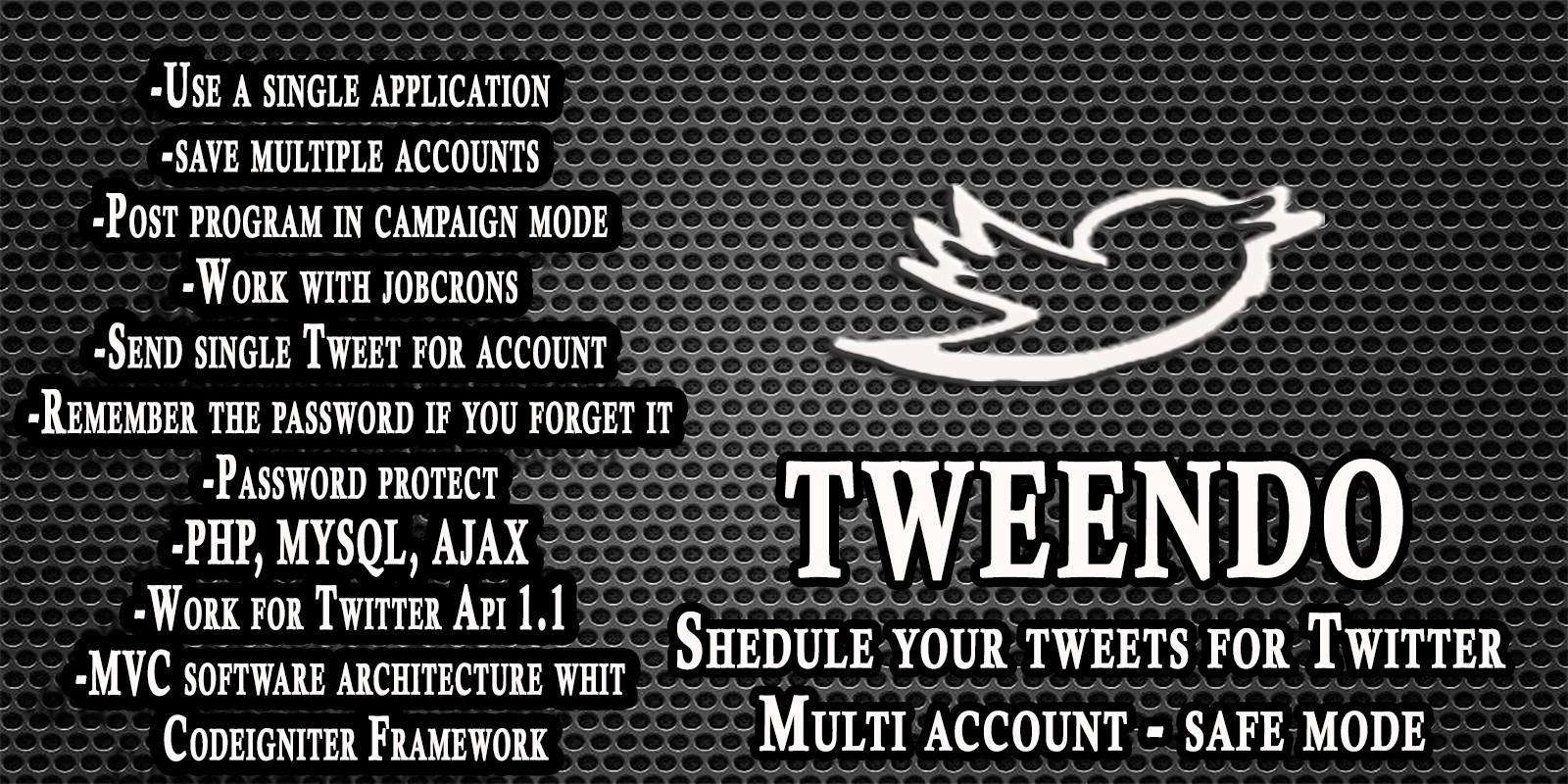 Tweendo - Schedule Tweets For Twitter PHP Script