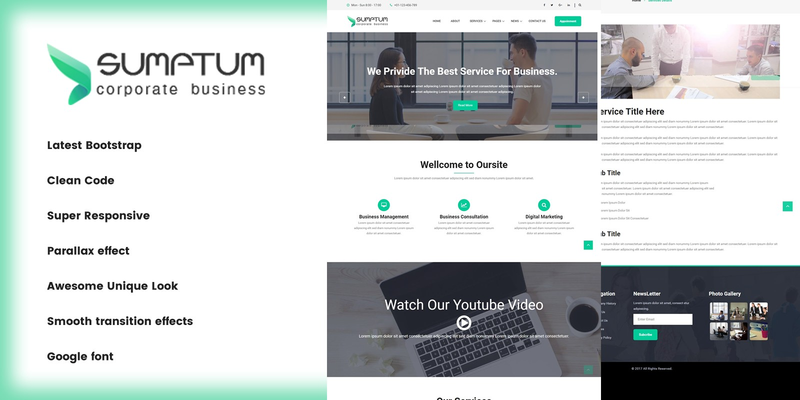 Sumptum - Business and Professional HTML Template.