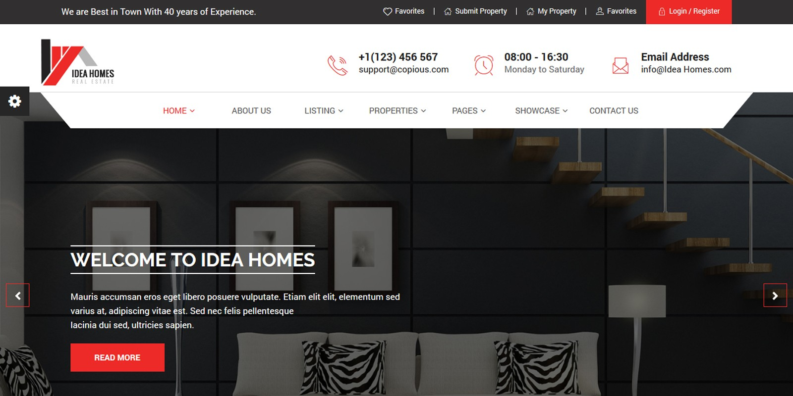Idea homes - Real Estate Template