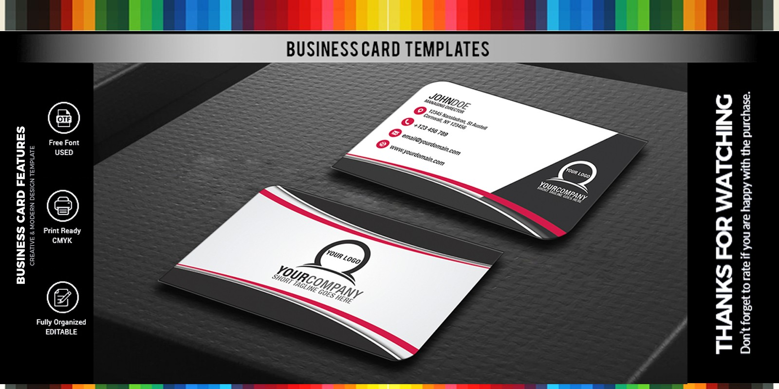 simple professional business card design style 2