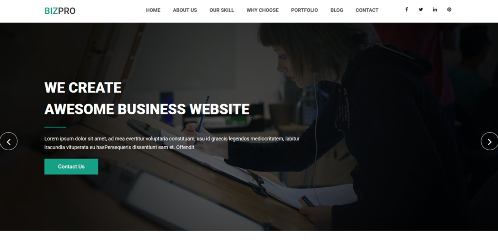 Bizpro - OnePage HTML Business Template - Business HTML Website ...