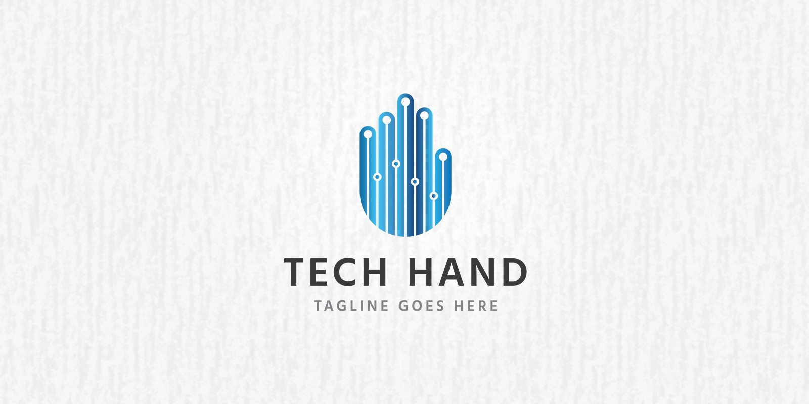 Tech Hand Logo Template