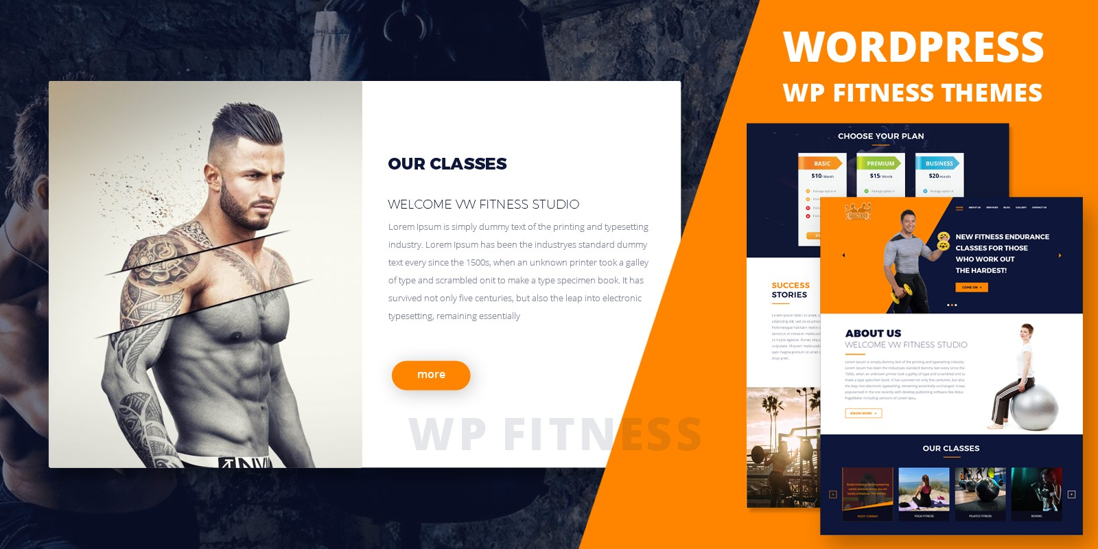 WP Fitness Pro - WordPress Theme