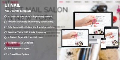LT Nail - Premium Private Joomla Salon Template