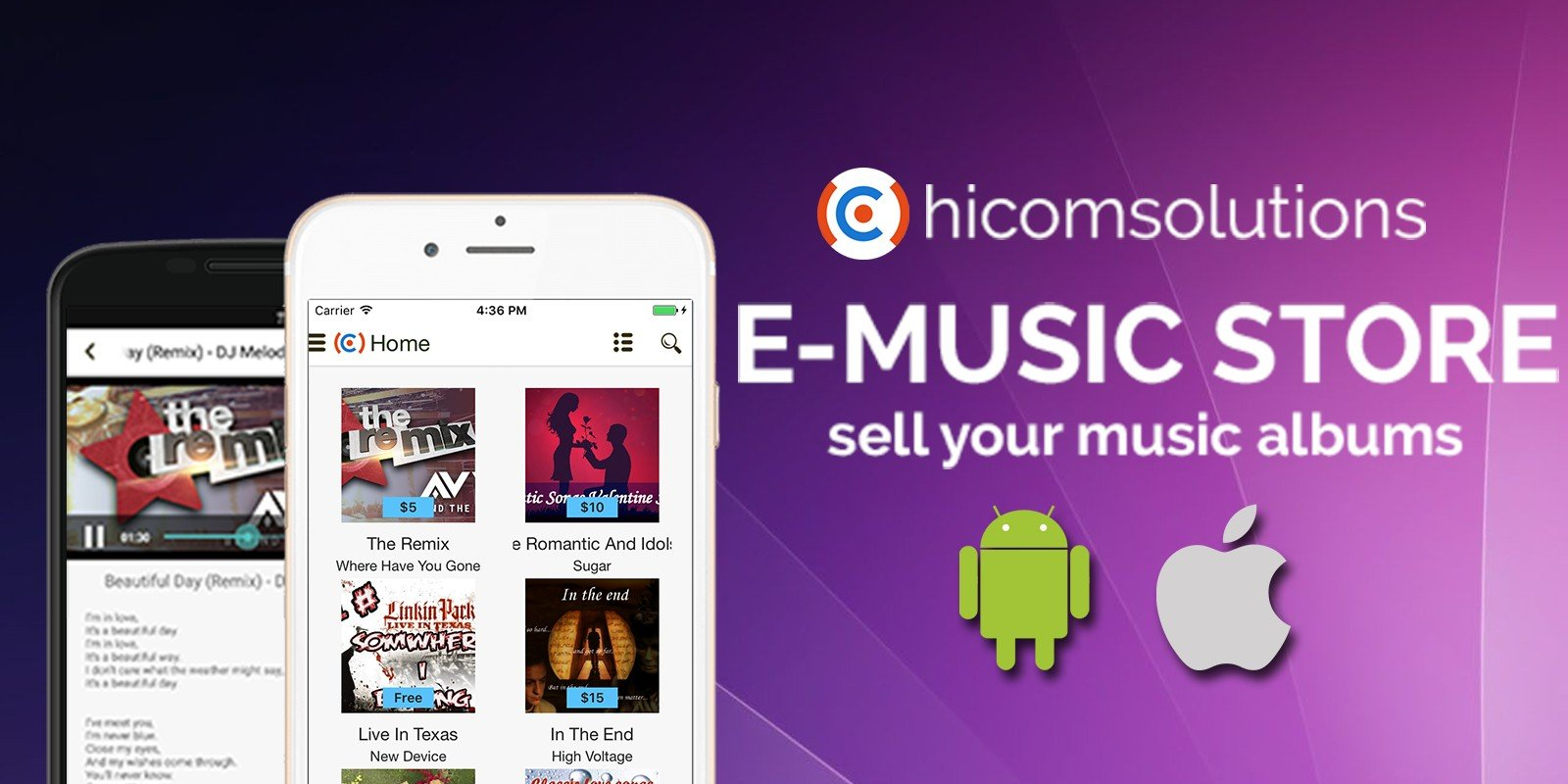 E-Music Store - Android App Template