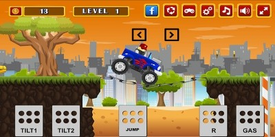 Monster Truck Rider - Construct 2 Template