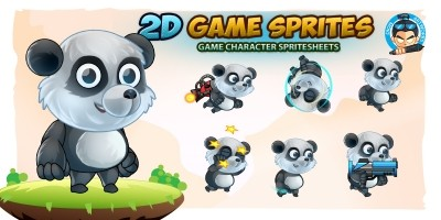 Panda 2D Game Character Sprites Sheets