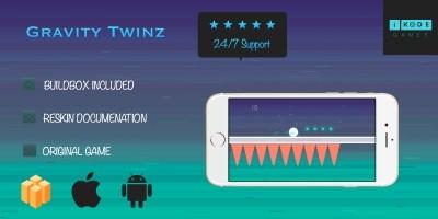 Gravity Twinz - Buildbox Template