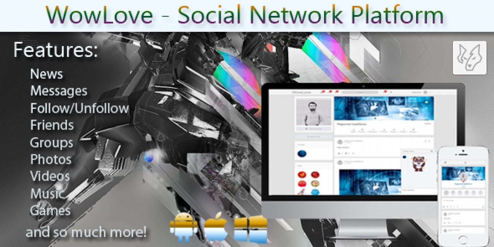 WowLove Social Network Platform