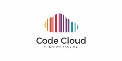 Code Cloud Colorful Logo