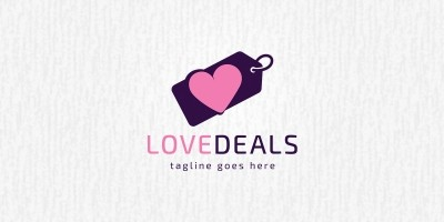 Love Deals Logo Template