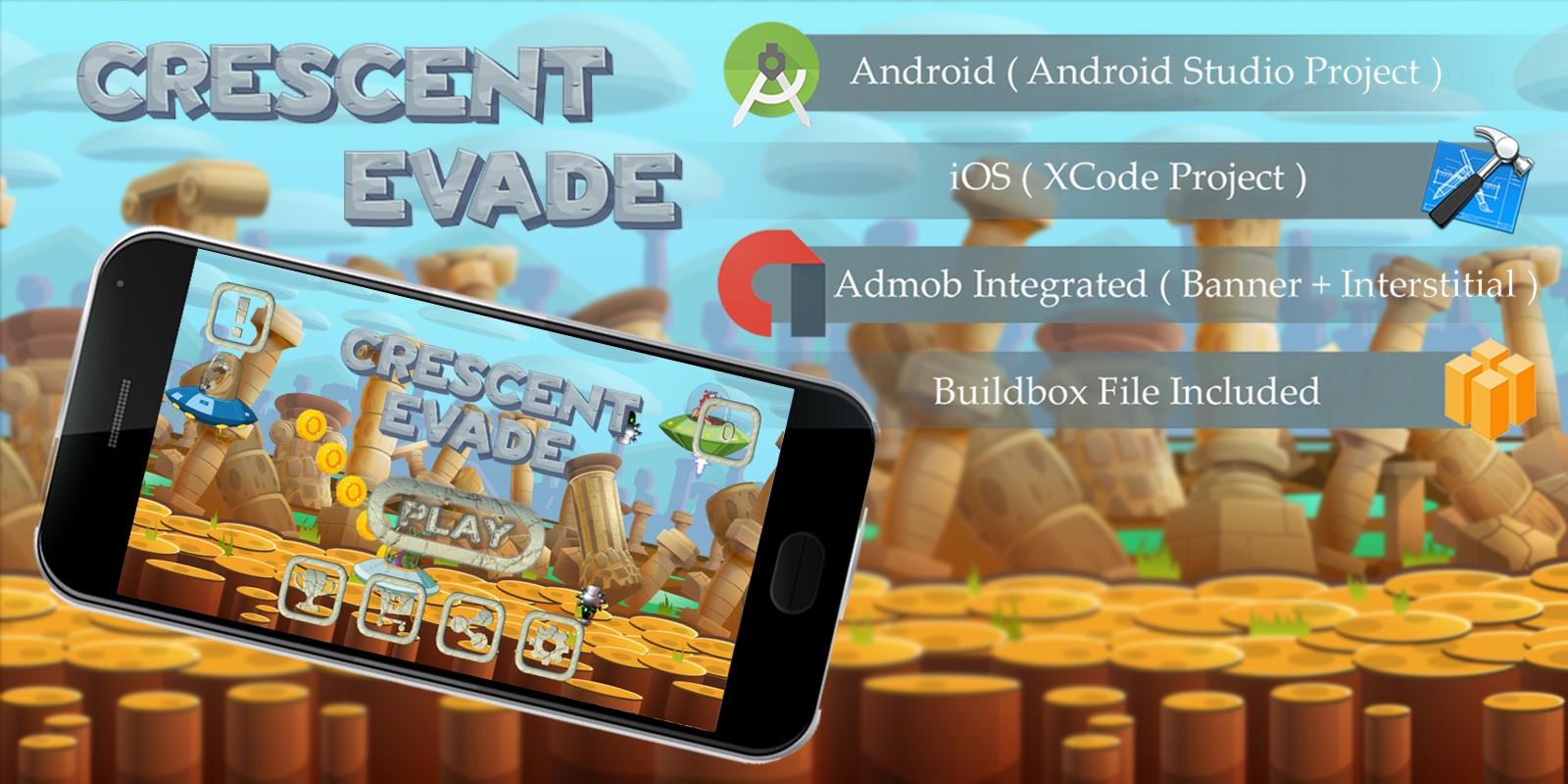 Crescent Evade - Buildbox Template