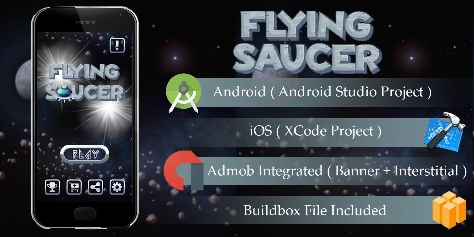 Flying Sauce - Buildbox Template