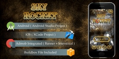 Sky Rocket - Buildbox Template